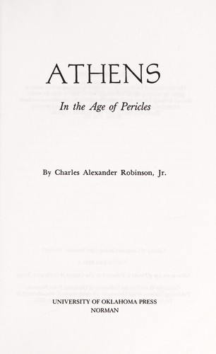 Athens by Charles Alexander Robinson