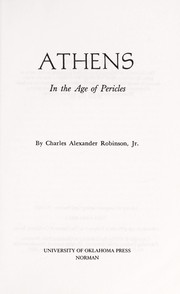 Cover of: Athens | Charles Alexander Robinson