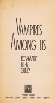 Cover of: Vampires among us