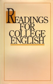 Cover of: Readings for College English