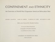 Cover of: Confinement and ethnicity