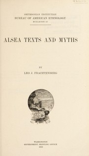 Cover of: Alsea texts and myths