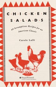 Cover of: Chicken salads | Carole Lalli