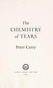 Cover of: The chemistry of tears