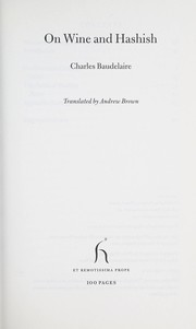 Cover of: On wine and hashish | Charles Baudelaire