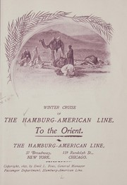 Cover of: Winter cruise, of the Hamburg-American line, to the Orient | Hamburg-American line. [from old catalog]