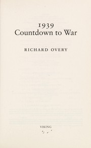 Cover of: 1939: countdown to war