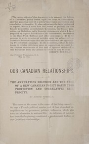 Cover of: Our Canadian relationships
