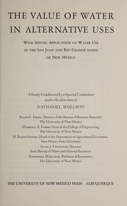 Cover of: The value of water in alternative uses |