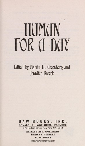 Human for a day by Martin Harry Greenberg, Jennifer Brozek
