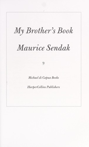 My brother's book by Maurice Sendak