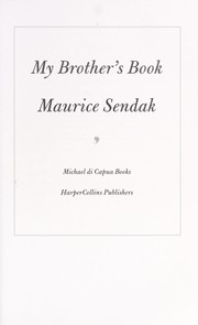 Cover of: My brother's book | Maurice Sendak