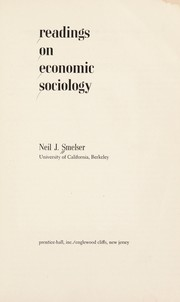 Cover of: Readings on economic sociology