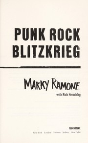 Cover of: Punk rock blitzkrieg | Marky Ramone