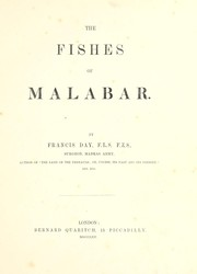 Cover of: The fishes of Malabar