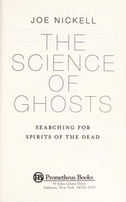 Cover of: The science of ghosts