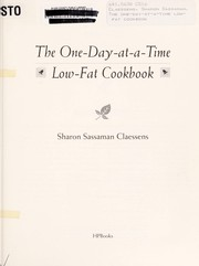 Cover of: The one-day-at-a-time low-fat cookbook