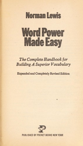 Word Power Easy by Norman lewis, Lewis, Norman