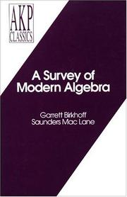 Cover of: A Survey of Modern Algebra