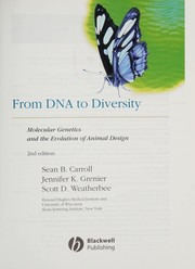 Cover of: From DNA to diversity