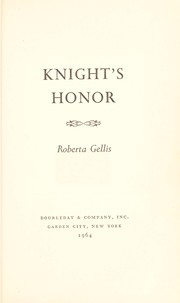Cover of: Knight's Honor