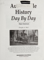 Cover of: Automobile History Day by Day | Douglas A. Wick