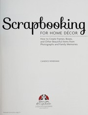 Cover of: Scrapbooking for home décor