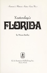 Cover of: Yesterday's Florida