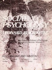 Cover of: A survey of social psychology | Leonard Berkowitz