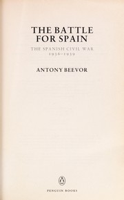 Cover of: The battle for Spain | Antony Beevor
