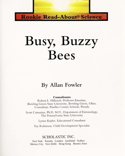 Busy, Buzzy Bees (Rookie Read-About Science) by