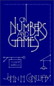 Cover of: On numbers and games