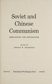 Cover of: Soviet and Chinese communism |
