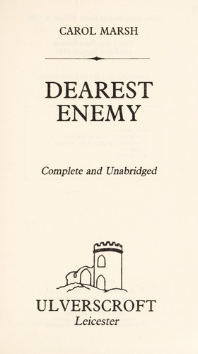 Dearest Enemy by Carol Marsh