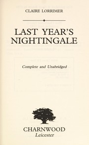 Cover of: Last Year's Nightingale