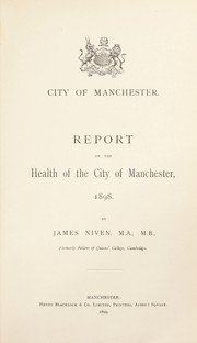 Cover of: [Report 1898]