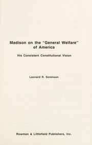 "Cover of: Madison on the ""general welfare"" of America"