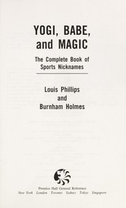 Cover of: Yogi, Babe, and Magic