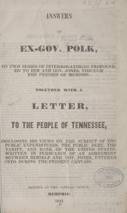 Cover of: Answers of ex-Gov. Polk