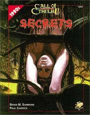 Cover of: Secrets (Call of Cthulhu) | Brian M. Sammons