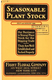 Cover of: Seasonable plant stock | Fight Floral Company