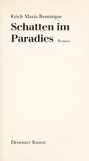 Cover of: Schatten im Paradies