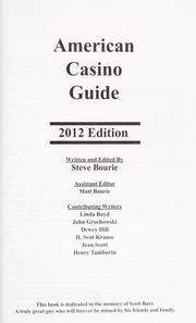 Cover of: American casino guide 2012 | Steve Bourie