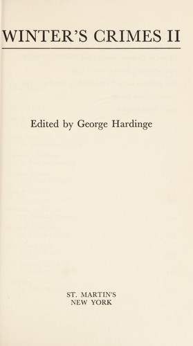 Winter's Crimes 11 by George Hardinge