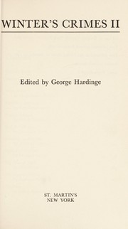 Cover of: Winter's Crimes 11 | George Hardinge