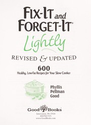 Cover of: Fix-it and forget-it lightly