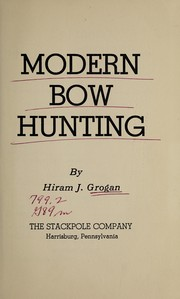 Cover of: Modern bow hunting