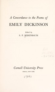 Cover of: A concordance to the poems of Emily Dickinson