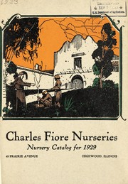 Cover of: Nursery catalog for 1929 | Charles Fiore Nurseries