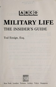 Cover of: Military life | Tod Ensign
